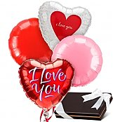 Balloons & Chocolate: Love & Romance Balloons & Chocolates-4 Mylar
