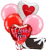 Balloons & Chocolate: Love & Romance Balloons & Chocolates-5 Mylar